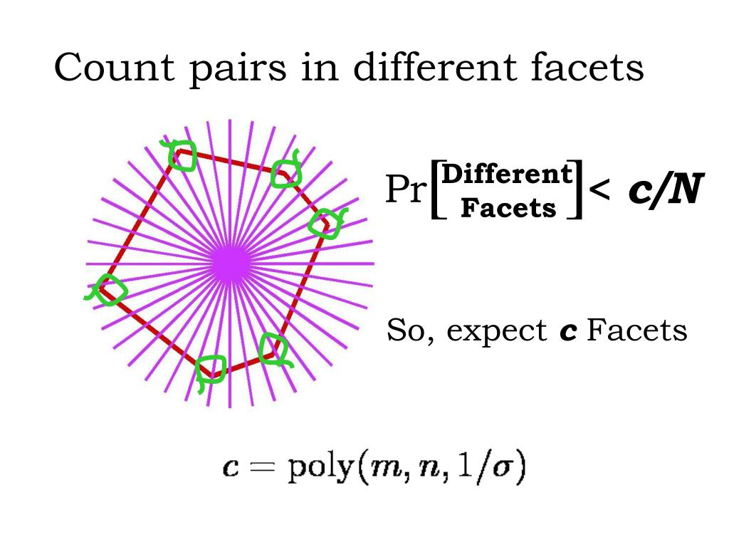 Count pairs in different facets