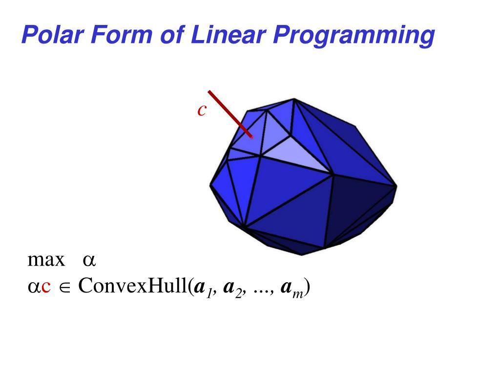 Polar Form of Linear Programming