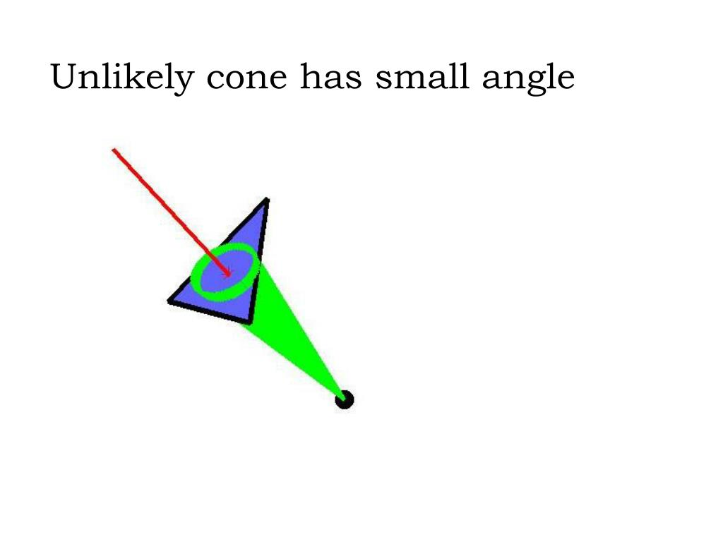 Unlikely cone has small angle
