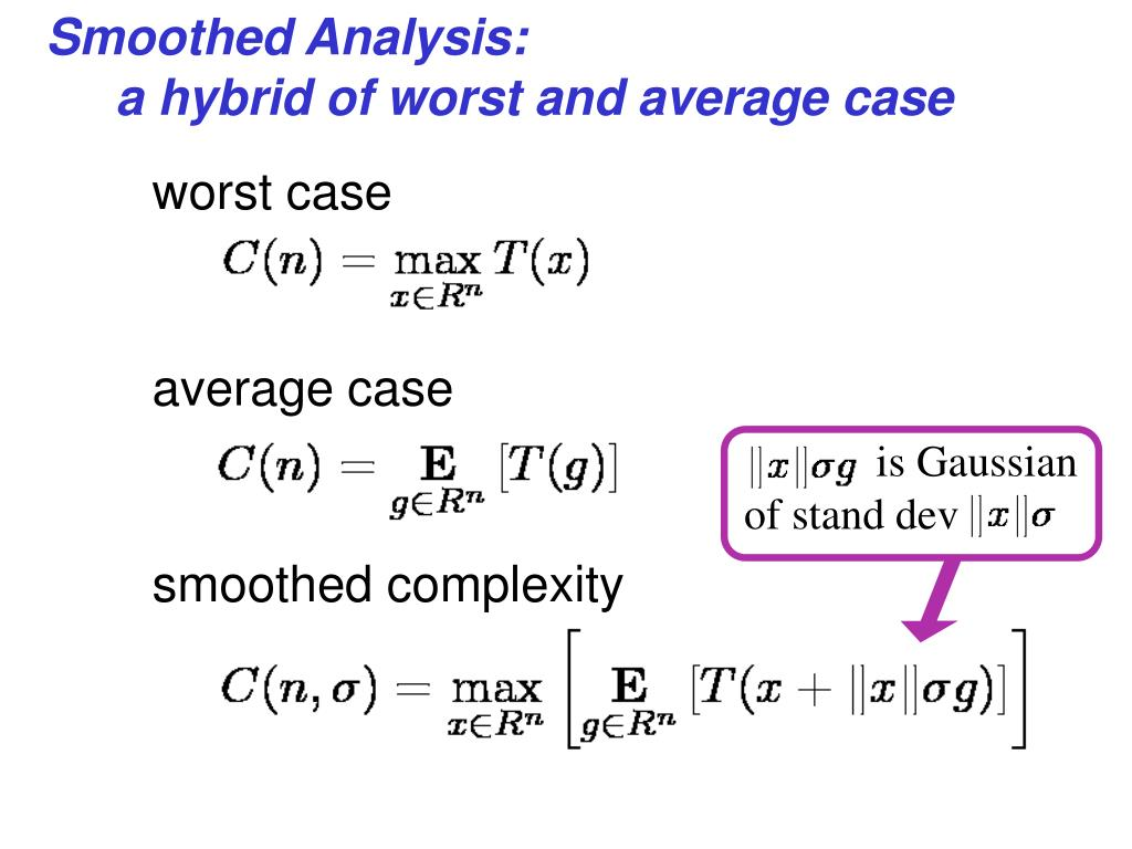 Smoothed Analysis: