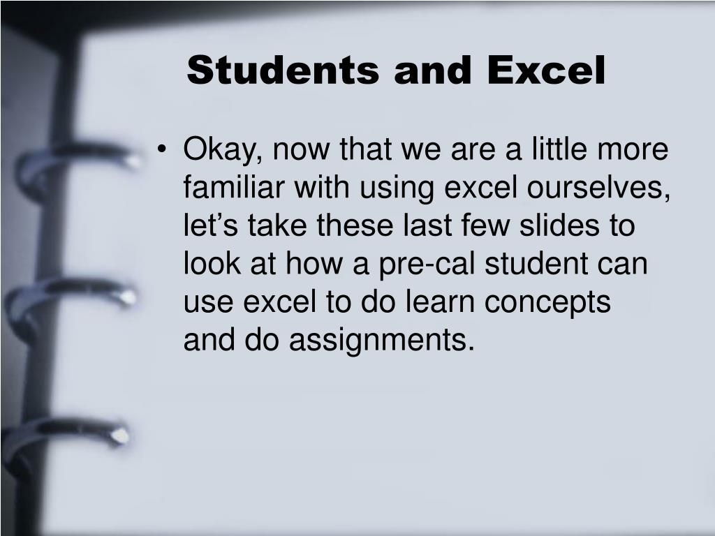 Students and Excel