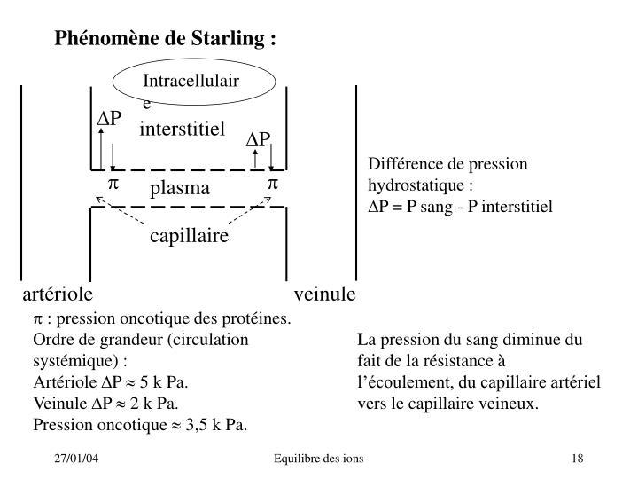Phénomène de Starling: