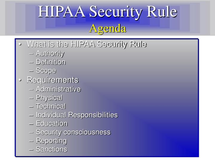 HIPAA Security Rule