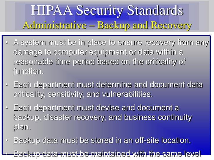 HIPAA Security Standards