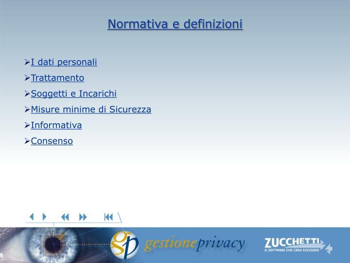 Normativa e definizioni