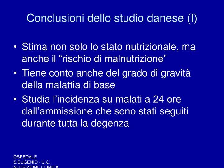 Conclusioni dello studio danese (I)