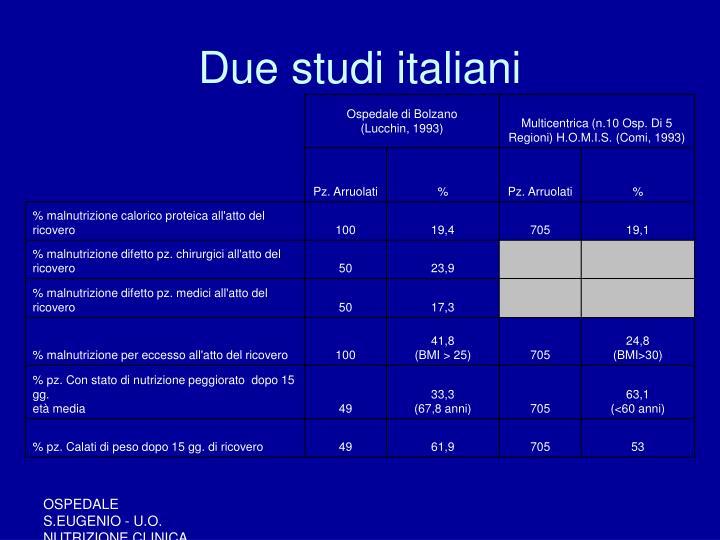 Due studi italiani