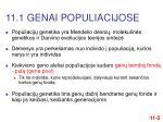 11 1 genai populiacijose