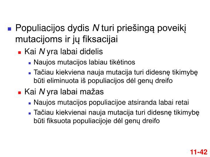 Populiacijos dydis