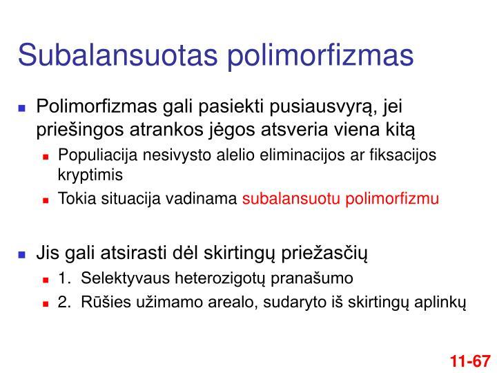 Subalansuotas polimorfizmas