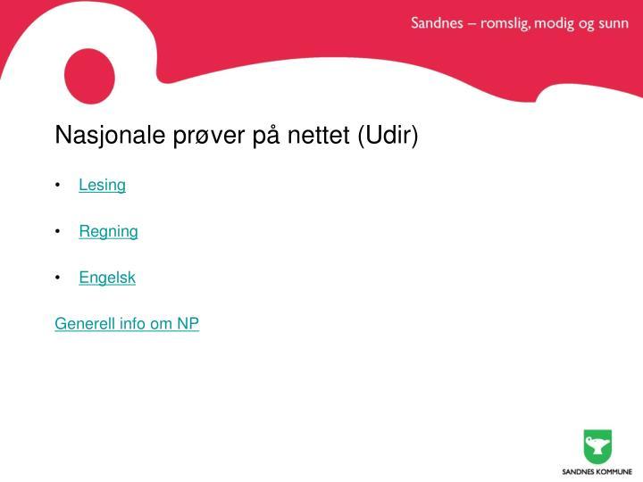 Nasjonale prøver på nettet (Udir)