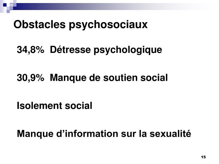 Obstacles psychosociaux