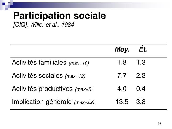 Participation sociale