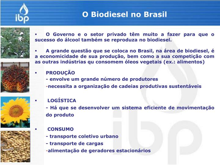 O Biodiesel no Brasil