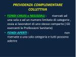 previdenza complementare collettiva
