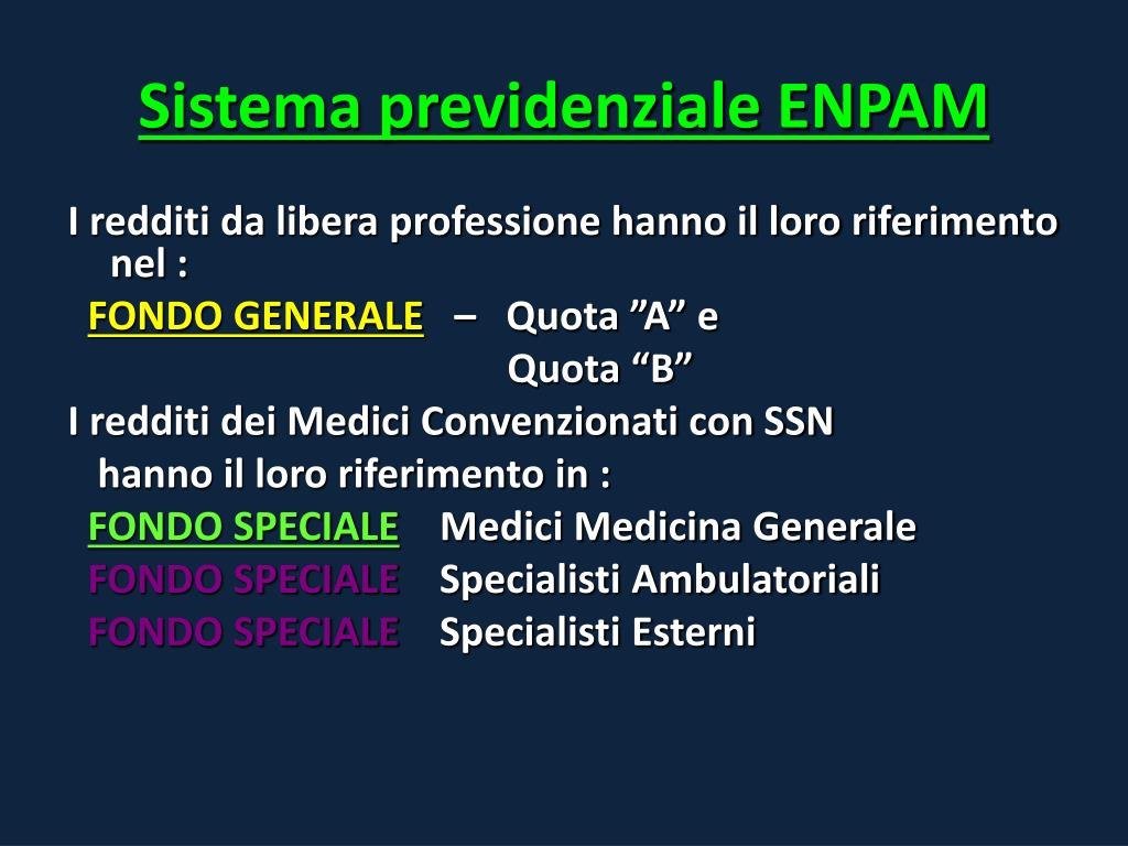 Sistema previdenziale ENPAM