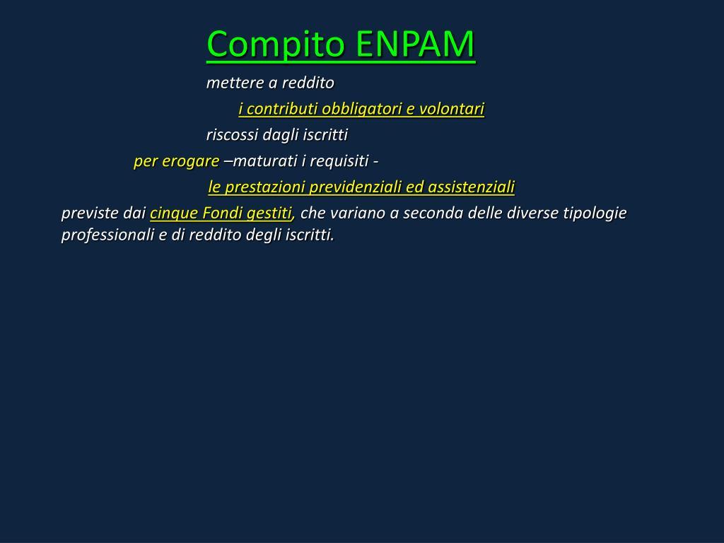 Compito ENPAM