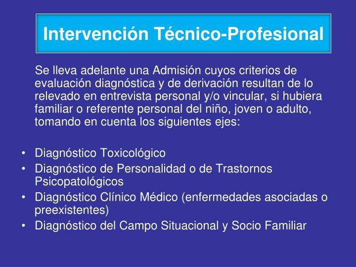 Intervención Técnico-Profesional