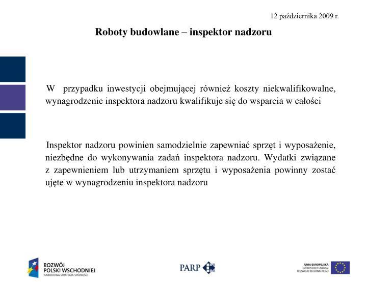 Roboty budowlane – inspektor nadzoru