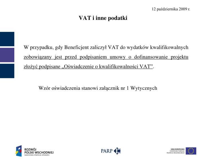 VAT i inne podatki