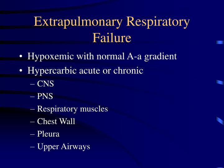 Extrapulmonary Respiratory Failure