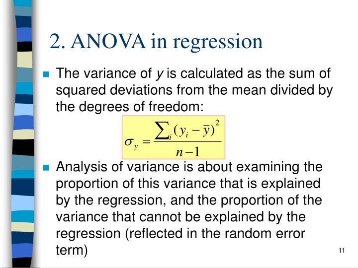 2. ANOVA in regression