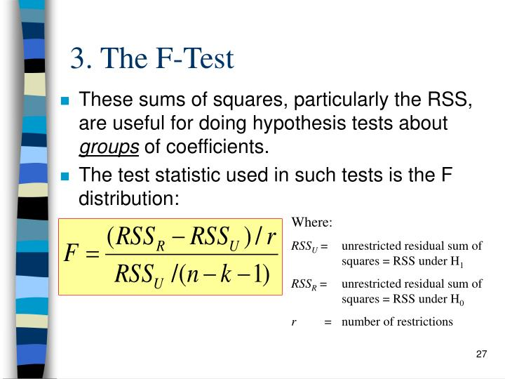 3. The F-Test
