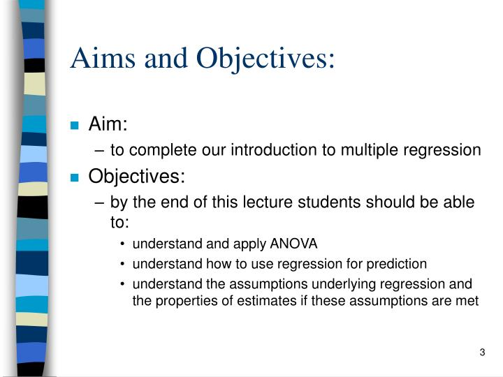 Aims and Objectives: