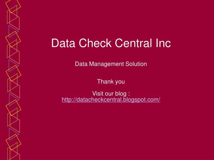 Data Check Central Inc