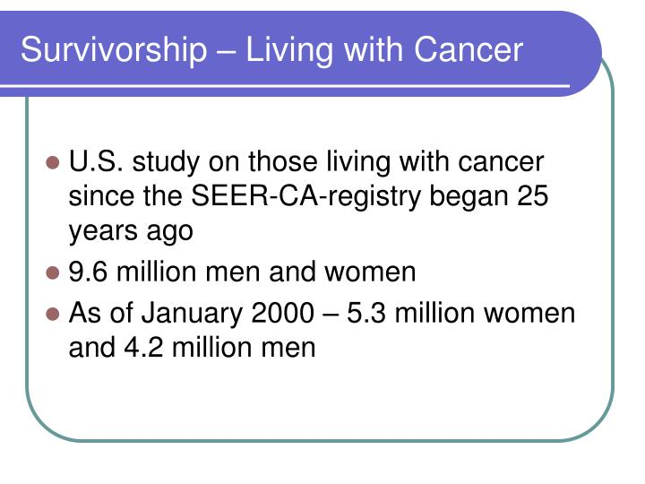 Survivorship – Living with Cancer