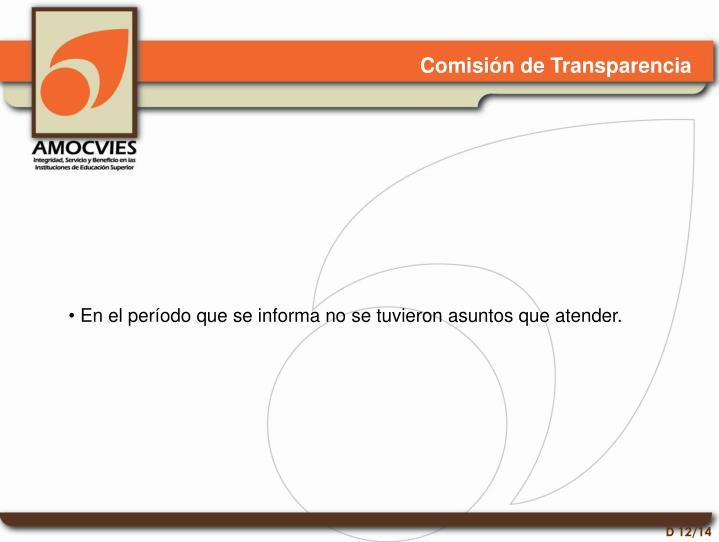 Comisión de Transparencia