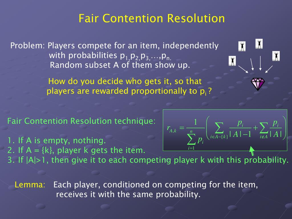 Fair Contention Resolution