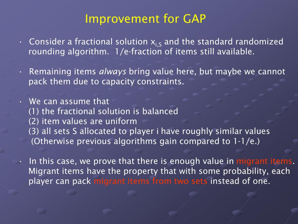 Improvement for GAP