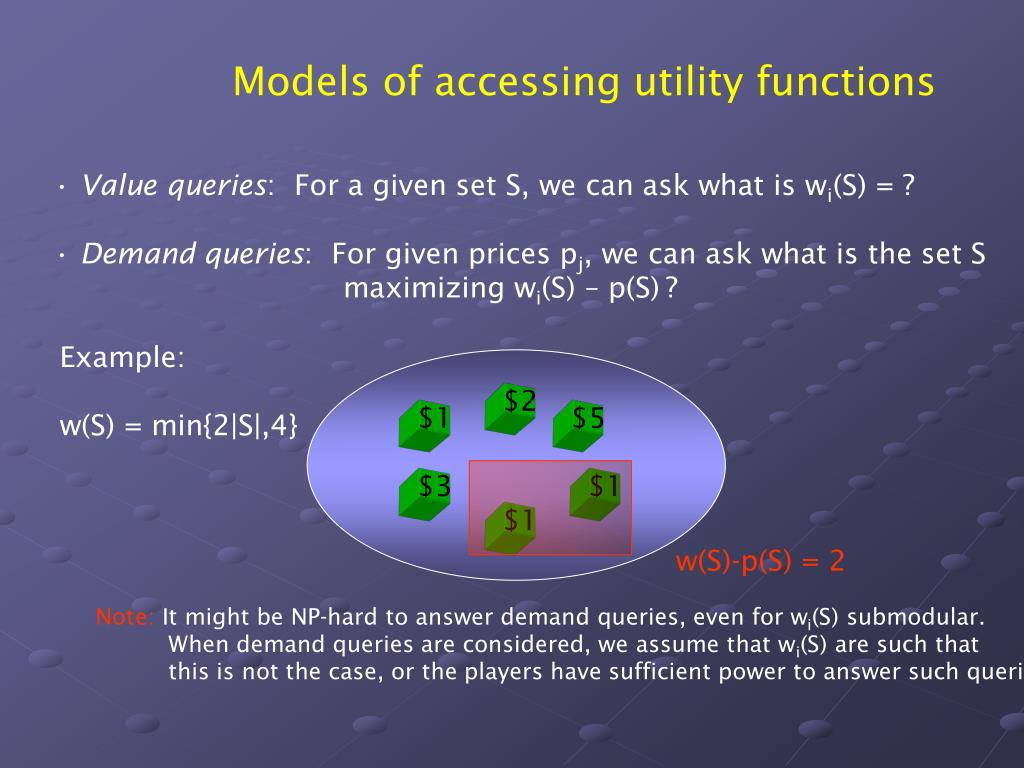 Models of accessing utility functions