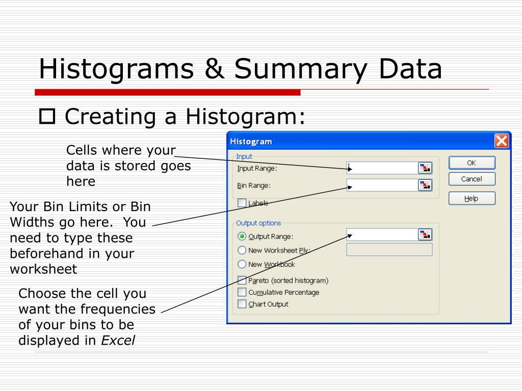 Histograms & Summary Data