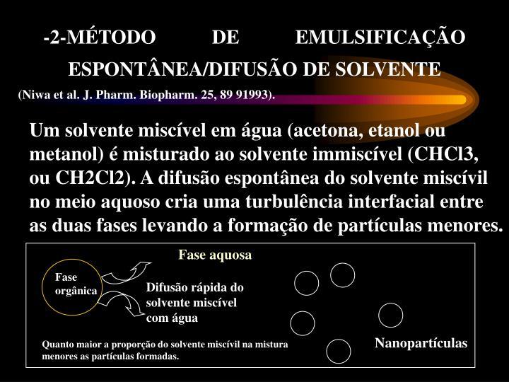 -2-MÉTODO DE EMULSIFICAÇÃO