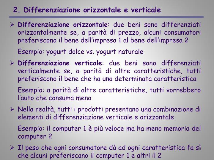 2. Differenziazione orizzontale e verticale