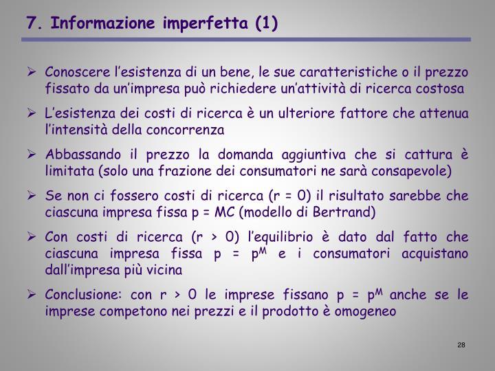 7. Informazione imperfetta (1)