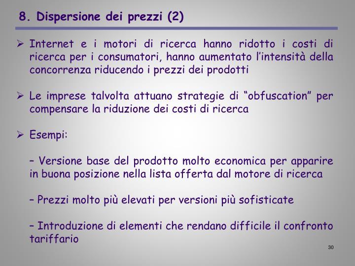 8. Dispersione dei prezzi (2)