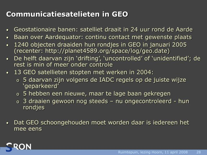 Communicatiesatelieten in GEO