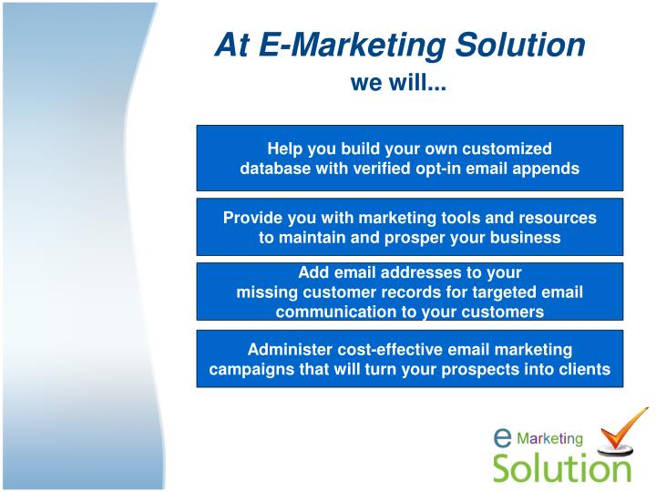 At E-Marketing Solution