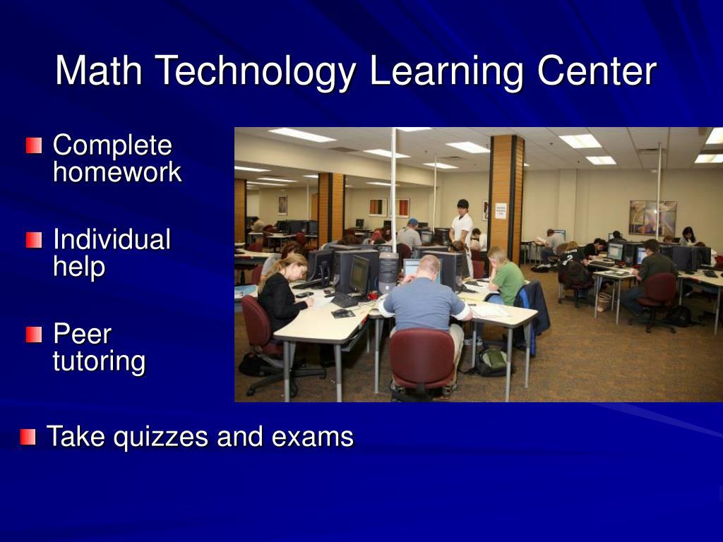 Math Technology Learning Center