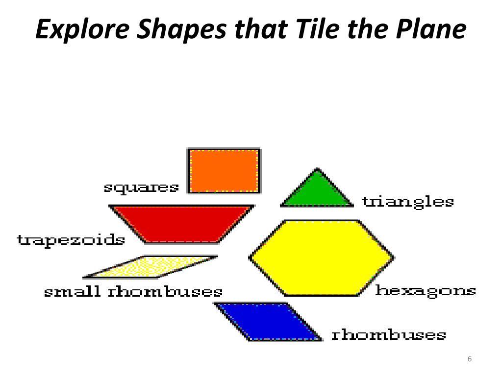 Explore Shapes that Tile the Plane