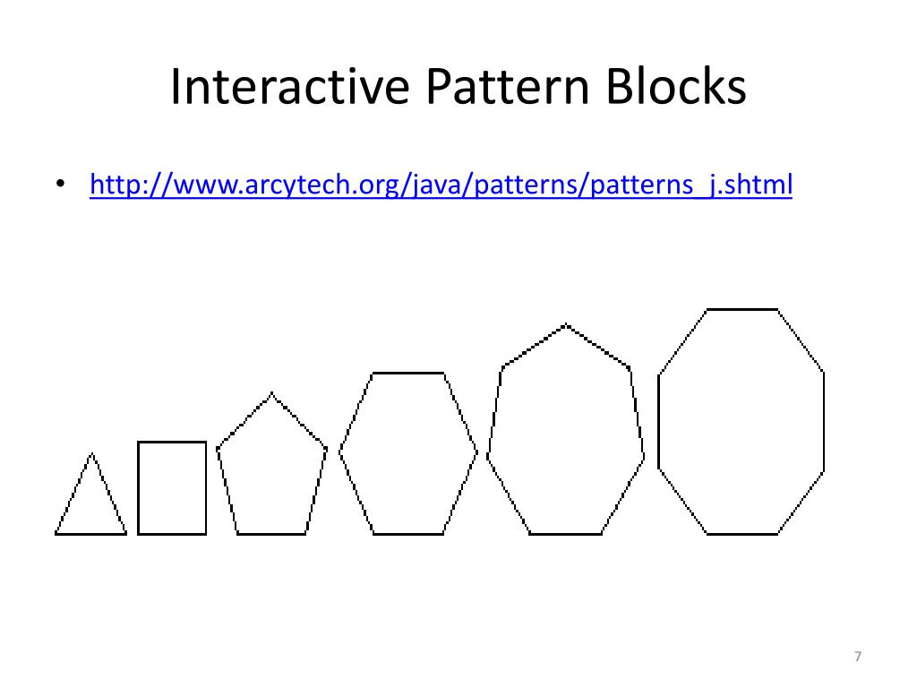 Interactive Pattern Blocks
