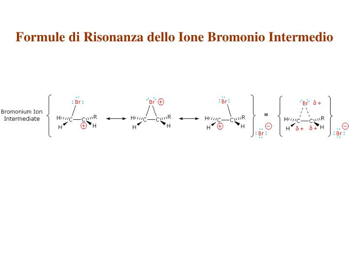 Formule di Risonanza dello Ione Bromonio Intermedio