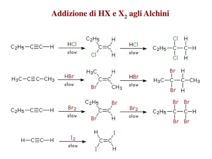 Addizione di HX e X