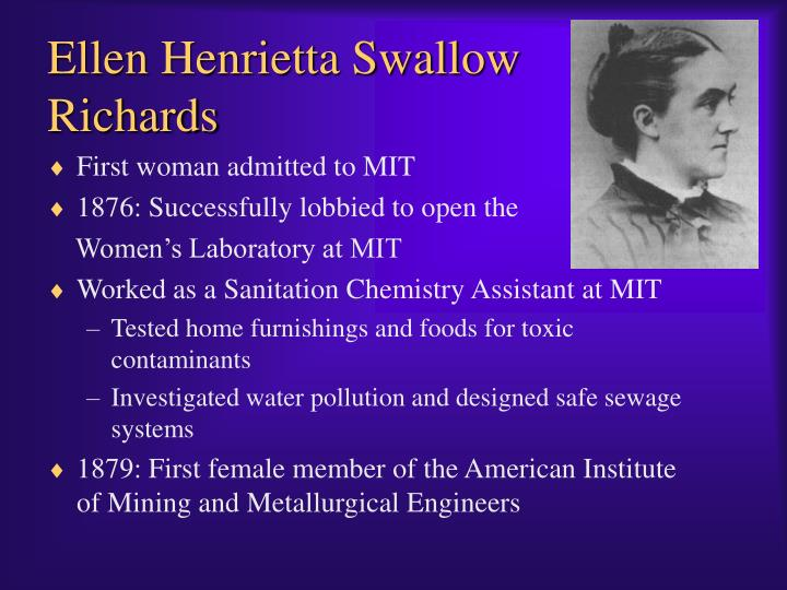Ellen Henrietta Swallow Richards