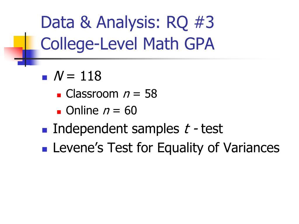 Data & Analysis: RQ #3