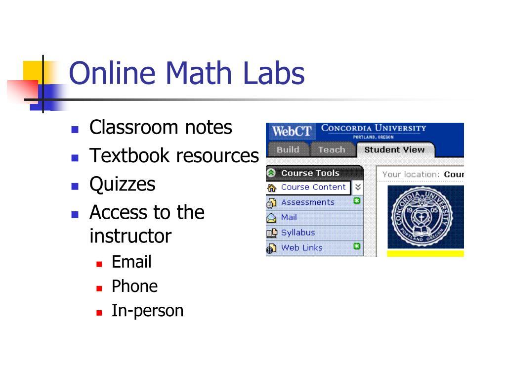Online Math Labs