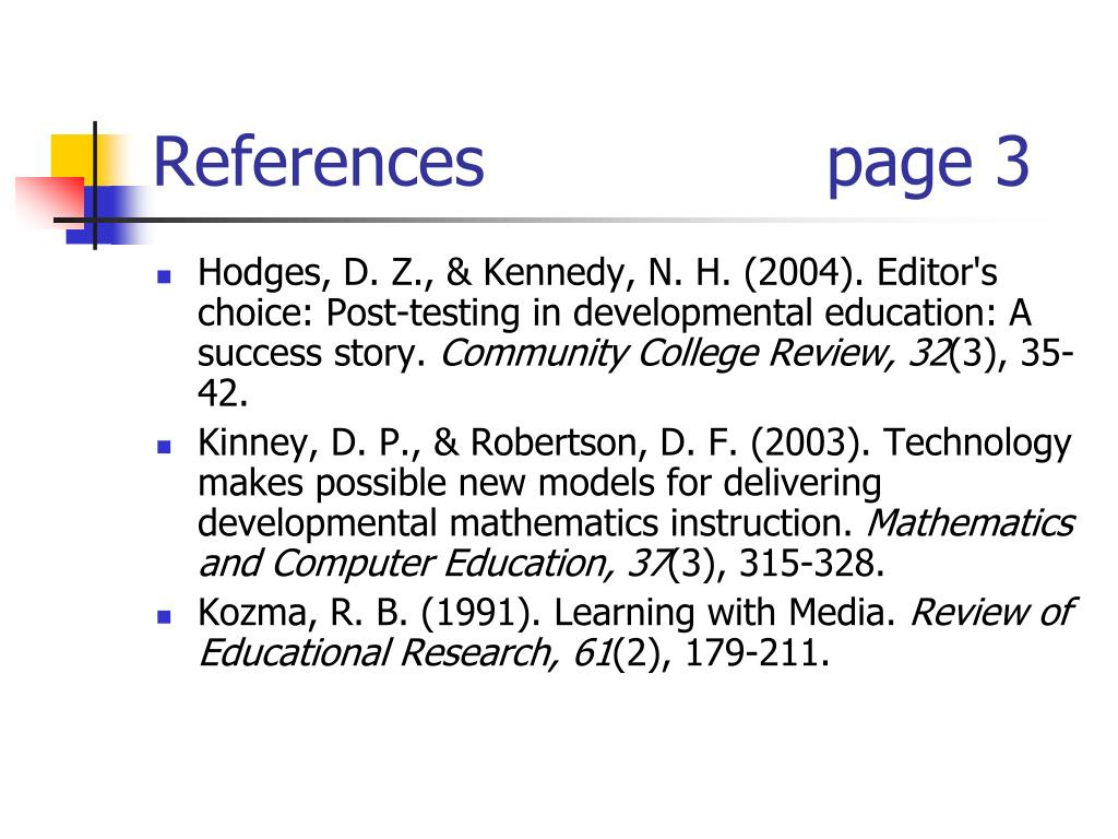 References                page 3